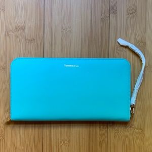 Tiffany & Co. Large Leather Travel Wallet/ Clutch
